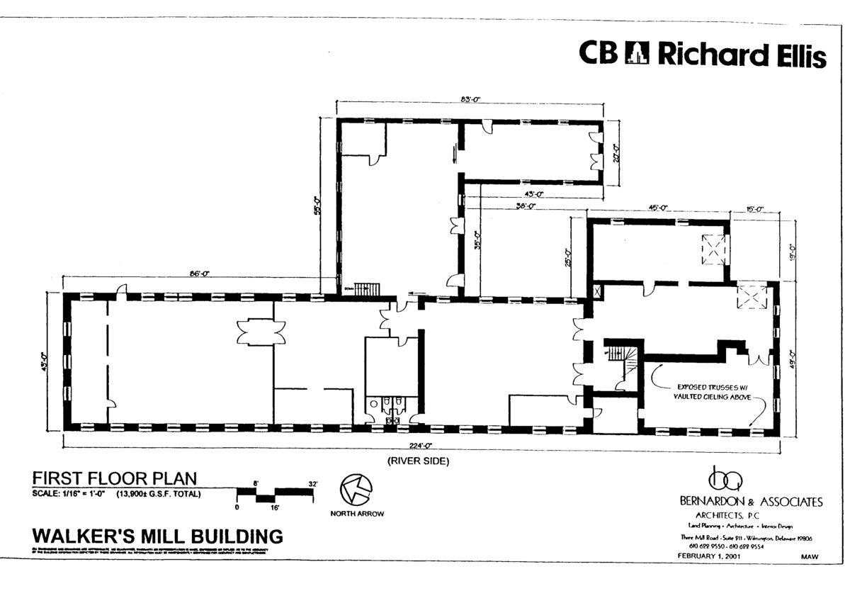 Floor plans of mill and bank house